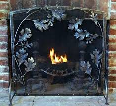 oak leaf fireplace screen