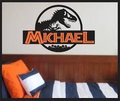 Jurassic Park Wall Decal Jurassic World Dinosaur Boys Roomt Etsy Dinosaur Boys Room Dinosaur Room Vintage Kids Room Decor