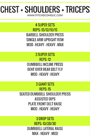 chest shoulders triceps workout