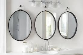 black oval bardot mirror