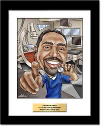 custom doctor caricatures drawn from a