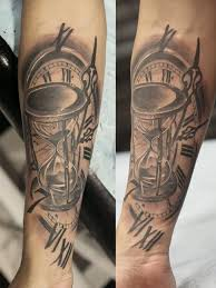 high fashion tattoo clock