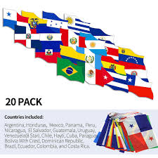 Latin America 20 Countries String Flags Anley Flags