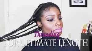 african hair threading for natural hair