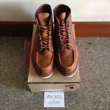 boots 6 oil tanned leather moc toe