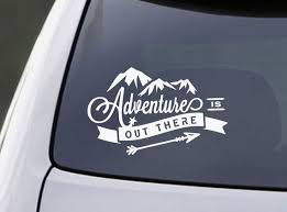 Laptop Decal Laptop Sticker Adventure Is Out There Mac Book Decal Car Decal Bumper Sticker Adventure Decal Mountains Decal Car Decals Car Stickers Car Accesories