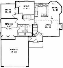 plan 1120 ranch style small house