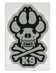 K9 Paw Decal K9 Skull Decal K9 Skull Crossbones Decal Mil Spec Monkey Decal 00004 Bonw Ray Allen Manufacturing