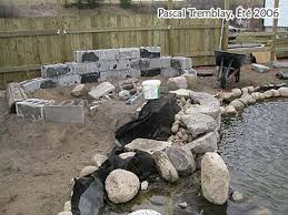 how to build a garden rock waterfall