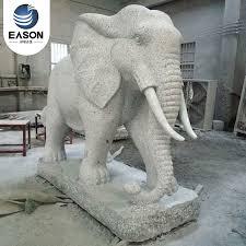 hand carve stone elephant garden statue
