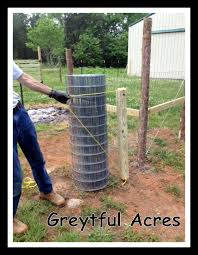 Wire Fencing Is Completed Greytful Acres