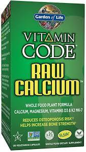 garden of life raw calcium supplement