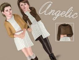 sims 3 female clothes angelic dress by