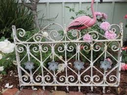 cast iron garden gate metal flowers