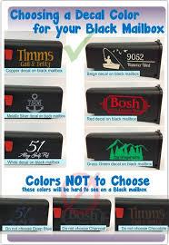 Mailbox Monogram Decals Custom Lettering Vinyl Stickers For Basic Or Jumbo Sized Mailbox