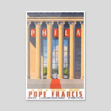 Philadelphia Welcomes Pope Francis, an art acrylic by Paul Sheaffer - INPRNT