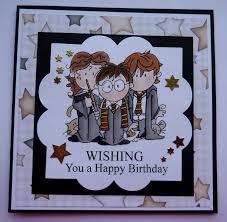 S300 Hand Made Birthday Card Using Harry Potter Digi Stamp