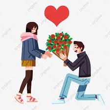شكل قلب وردة حمراء الزهور باقة شكل قلب Png وملف Psd للتحميل مجانا