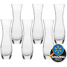 hosley glass bud vases set of 6 in