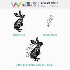 Jump For Joy Bunny Rabbit Vinyl Wall Decal For Nursery Kids Room Decor Wallternatives