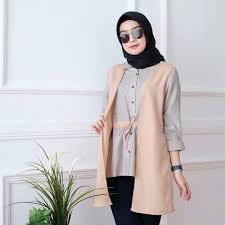 Trend model batik atasan wanita muslim modern lengan panjang pendek cocok buat anda wanita karir dan bisa juga digunakan untuk ke pesta atau. Atasan Baju Tunik Hijab Wanita Modis Update Terbaru Model Rompi Dan Pita T35 Shopee Indonesia