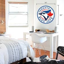 Toronto Blue Jays 36x36 Team Logo Repositional Wall Decal Mustang Wholesale