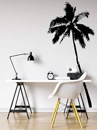 Amazon Com Palm Tree Vinyl Wall Decal Sticker Large Black 6ft Tall Tree 72in Tall X 33in Wide Jh238s Home Kitchen