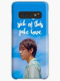 bts taehyung fake love lyric quote case skin for samsung galaxy