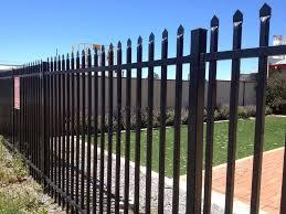 Industrial Steel Fence Panel Powder Coated Black