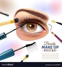 eye makeup blurred background poster