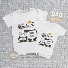 first fathers day panda baby grow