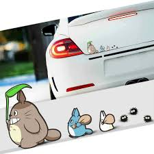 1 Set Tonari No Totoro Car Window Stickers Auto Vinyl Decal For Women Styling Ebay