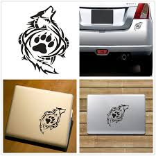 2pcs Tribal Wolf Paw Print Vinyl Funny Cars For Ipad Apple Laptop Sticker Cars Decal Window Tablet Xmas Gift Home Decor Stickers Wish