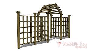 Arbor Trellis Peak Fence Sketchup 3d Model Free Download