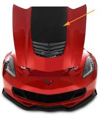 2015 2019 Corvette C7 Z06 Z07 Carbon Fiber Stinger Hood Decal