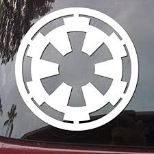 Amazon Com Star Wars Galactic Empire Vinyl Decal White Window Sticker Cmi130 Automotive