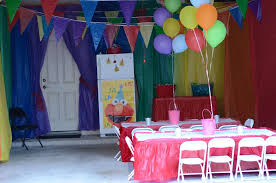 elmo and rainbow colors birthday party