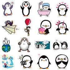 Poppers Penguin Waterproof Stickers For Laptop Stickers Motorcycle Bicycle Skateboard Luggage Decal Graffiti Patches Stickers 50pcs