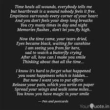 time heals all wounds ev quotes writings by advit atul
