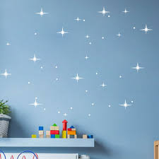 Diy Stars And Dots Wall Decals For Baby Room Nursery Background Wall Decoration Available In Gold Aliexpress