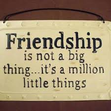 Quotes of Love - Friendship is not a big thing, It's a... | Facebook