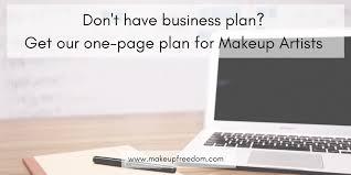 makeup artist business plan