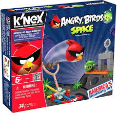Angry Birds KNex Black Bird vs Small Minion Pig