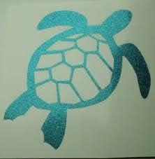 Sea Turtle Aqua Teal Glitter Car Window Tumbler Laptop Mug Decal Sticker Ebay