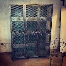 Stunning Set Of Industrial Lockers Large Cubbies Storage Kids Room Must See Ebay
