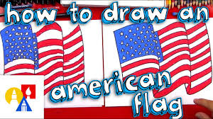 How To Draw The American Flag - YouTube
