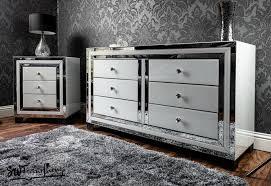 swfurnishings white mirrored furniture