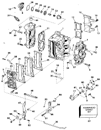 johnson cylinder crankcase parts for