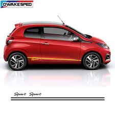 Sport Stripes Vinyl Decals Car Door Side Skirt Stickers Auto Body Waterproof Decal For Peugeot 108 Fit For 3 5 Doors Sticker Buy At The Price Of 7 41 In Aliexpress Com Imall Com