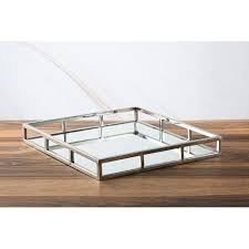 modbury glass mirror vanity tray